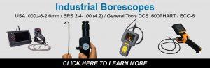 Industrial borescope camera